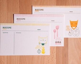 Suzy Ultman Letterpress Recipe Cards (Set of 12)