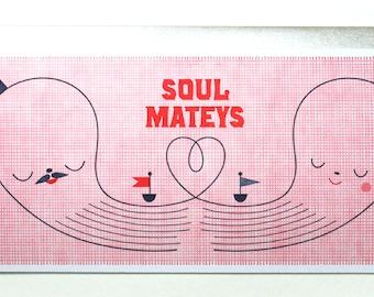 Soul Mateys Nautical Letterpress Card