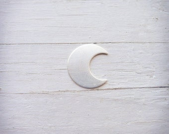 Moon Stamping Blank Sterling Silver