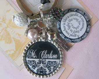 Personalized Teacher's Keychain, keyring, graduation gifts, end of year gifts