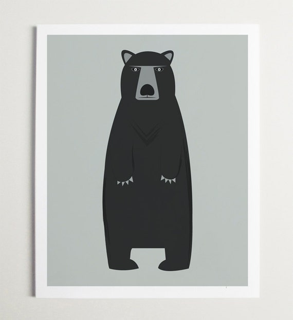 Modern Bear Art by ModernPOP