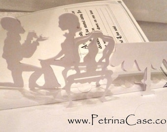 Proposal Engagement Pop-Up Card A9 - Man on bended knee ITEM 10534A