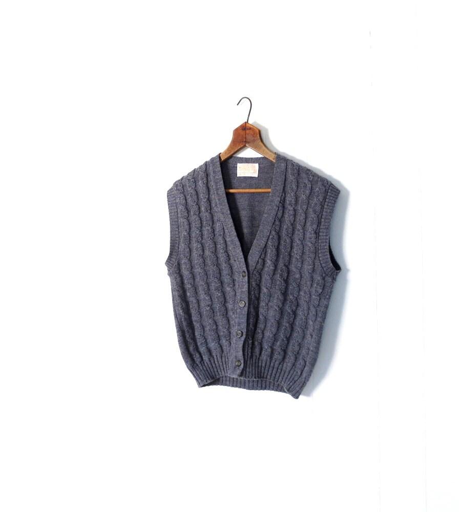 Vintage Pendleton Vest / Cable Knit Sweater by ...