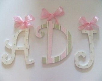 GLITTER and SPARKLE  Nursery Decor - Wood Wall Letters