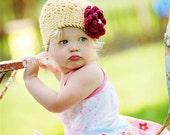 2 to 4 Years   ...   DAKOTA Girls Beanie  ...  Toddler Girls Crocheted Cotton Yarn Hat  ...  Country Yellow - Burgundy  ...  Ready-to-Ship