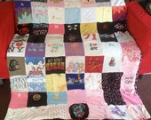 Young Girls TShirt Memory Blanket - unlimited size and items