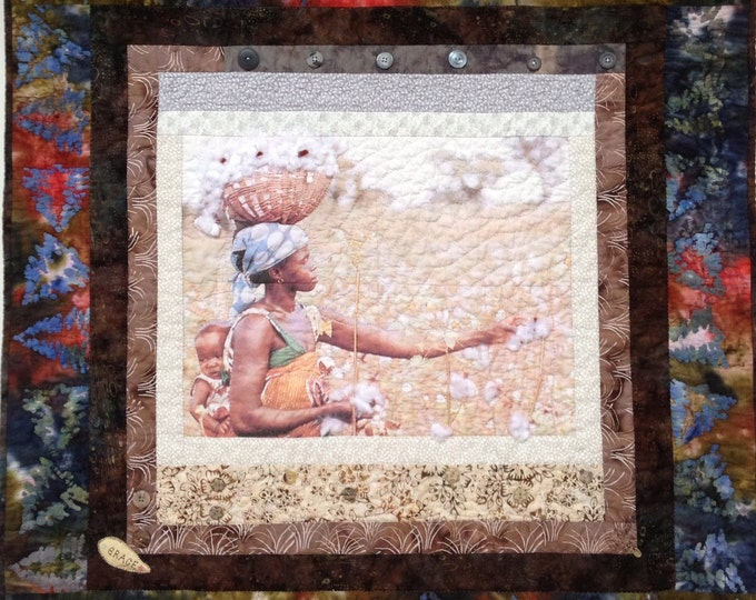 Strength and Grace 36 x 36 inch quilted wallhanging