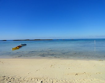 Bahamas Blue Sky Beach Color Photo Nature FREE US SHIPPING