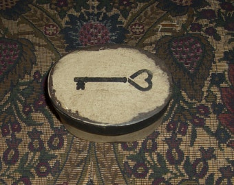 Paper Mache Vintage Key  Box