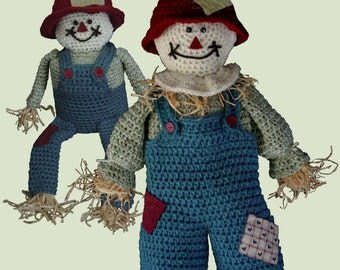 Scarecrow Bag Keeper and TP Topper Crochet Pattern PDF