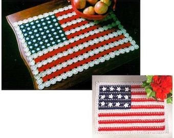 American Flag Doilies Crochet Pattern PDF
