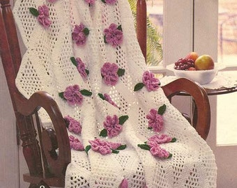 Trellis Rose Afghan Crochet Pattern PDF