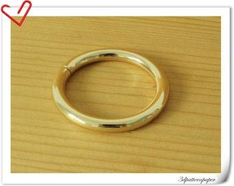10 pieces of 1.25 inch (32mm)  light Gold Metal Purse Split O rings U109