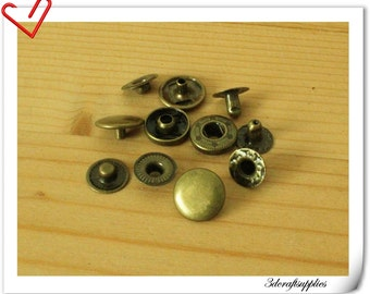 40 sets anti bronze 10mm snap button Snap Fastener i10
