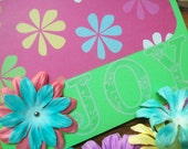 Spring Card - Blank Greeting Card with Flowers - Floral Blank Card - Summer Card - Thinking of You Card - Joy Card - Any Occasion Card