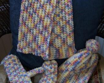 pastel children's winter wear set
