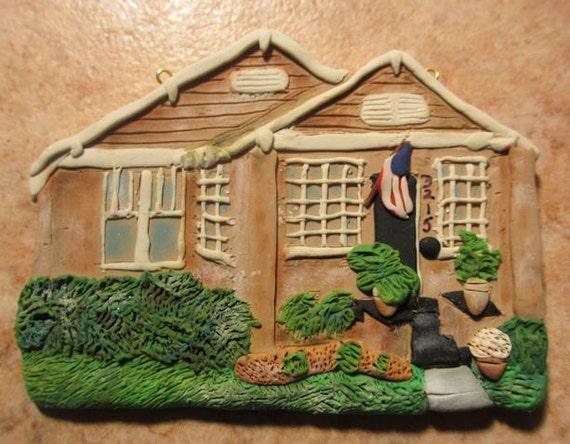 Custom Made House Ornament  FOR KATHERINE - 2013 -