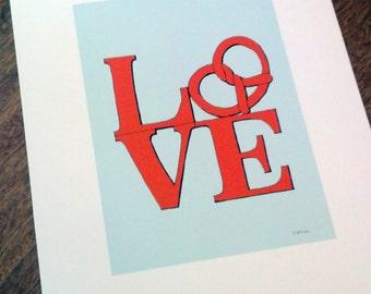Philadelphia Pretzel - Love Print