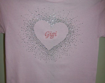 "Rhinestuded "" Gigi "" T-Shirt"