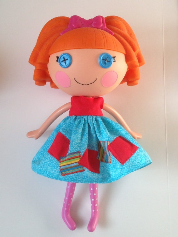 handmade lalaloopsy clothes turquoise and dress