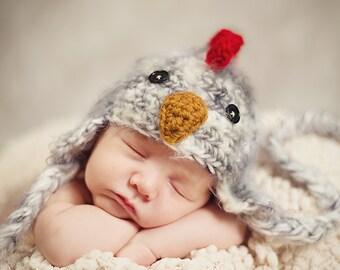 Rooster Hat Newborn 0 3m Fuzzy Chick Chicken Baby Crochet Soft Photo Prop Halloween Costume Baby Chick Boy Girl Gift Gender Neutral CUTE