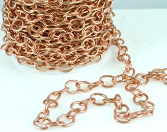 Copper Chain 11.5 x 5.5 link 2 feet CPCH003