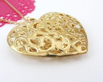 Gold Filigree Heart