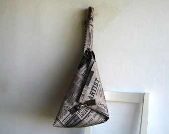 Art Newspaper Over the Shoulder Purse