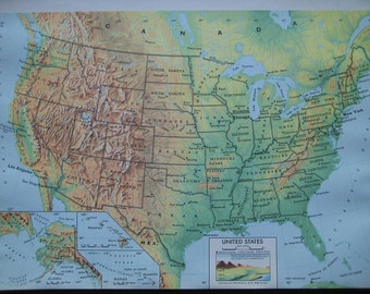 Large Color Map of the United States