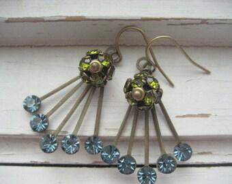 Lady Sybil, art deco Swarovski crystal earrings,  rhinestone earrings, Women of Downton Abbey Series