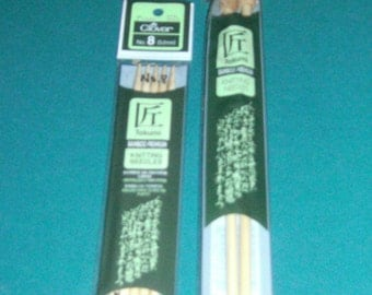 Clover Bamboo Knitting Needles - New In Package - Size 8 Knitting Needles - Size 10 Knitting Needles - Bamboo Knitting Needles