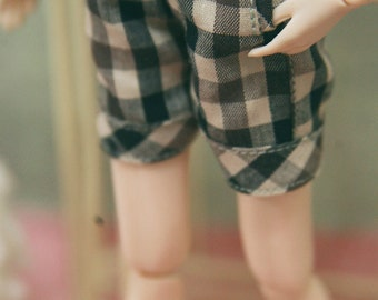 jiajiadoll  coffee checked shorts fit momoko or blythe or misaki