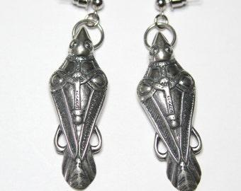 Odin's Raven Earrings Ancient Silver Odin's Ravens Viking Earrings Viking raven Jewelry 124