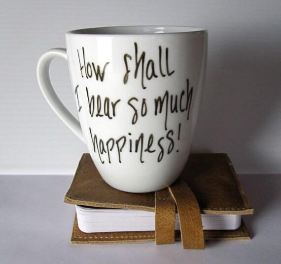 Jane Austen, Hand Written Mug