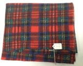 Tartan Polar Fleece Fabric Scrap
