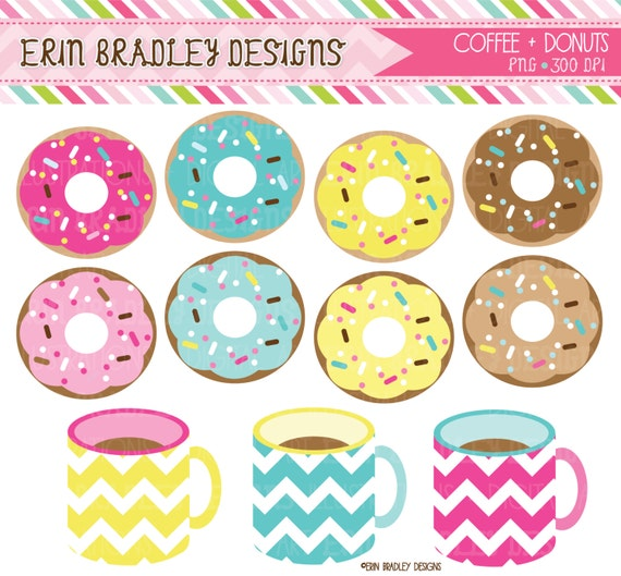 Coffee And Donuts Clipart Clip Art Personal By