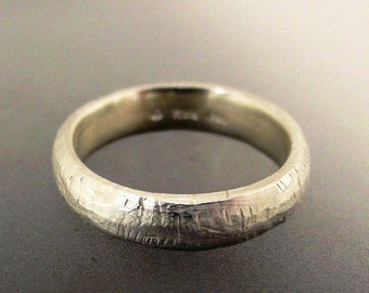 Mens Wedding Band, Rustic Textured Silver Wedding Ring, Wide Silver Band, Mans Ring, Made to order in your size