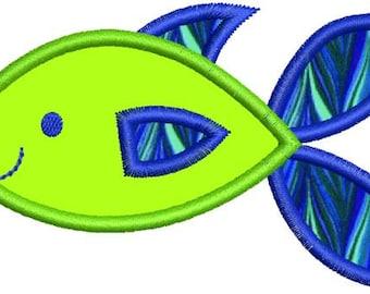 Applique Fish Machine Embroidery Designs 4x4 & 5x7 Instant Download Sale