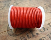 Leather Cord 1.5mm Red Leather Cord 10 Yard Spool Red Quality Leather Cording