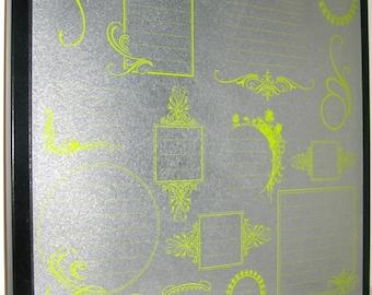 Lime Journal .. Magnet Dry Erase Steel Memo Board / Housewarming Gift / Wall Decor / Office Decor / Organization / Desk / Dorm / Co Worker