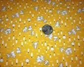fabric | feedsack TOYBOX by Sara Morgan 7068-9 | girls, bunnies + teddy bears | Blue Hill Fabrics 100% cotton | sewing + quilting | yellow
