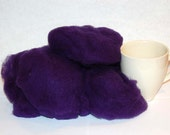 Fleece for hand spinning or needle felting from Donegal, Ireland, dark purple