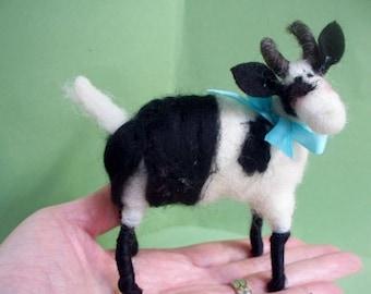 Alpine Felted Wool Goat Ornament/Figurine