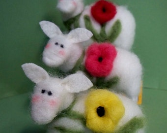 Bloomin Ewes Felted Wool Sheep - NEW for 2013