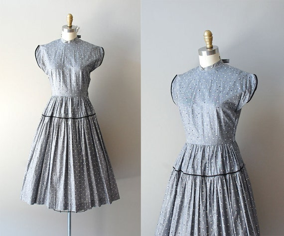 r e s e r v e d...1950s dress / cotton 50s dress / Star Scene dress