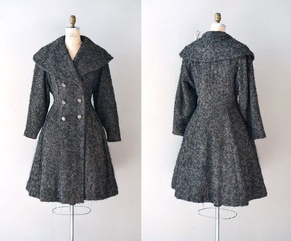 vintage 1950s coat / wool 50s princess coat / Guardian coat