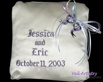 Ring Pillow, Ring Bearer Pillow, Keepsake Pillow, Wedding Pillow, Personalized Pillow, Made-To-Order Pillow, Bespoke Pillow