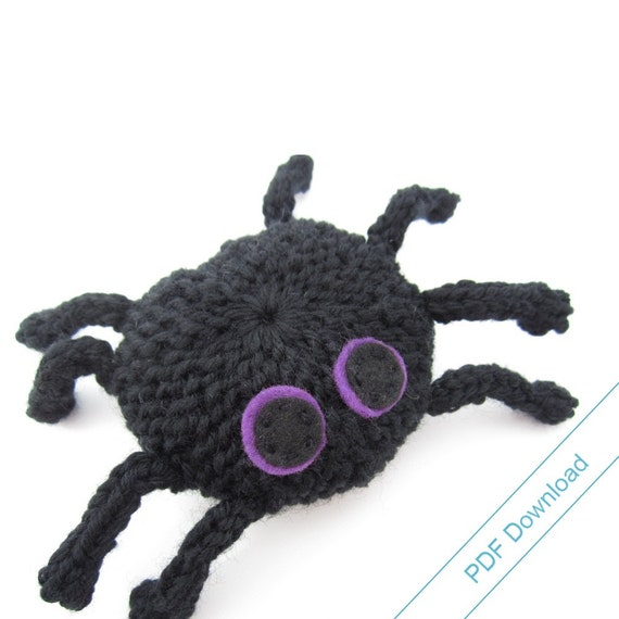 Spider Knitting Pattern PDF. Knit Your Own Toy Spider. from NattyKnits on Ets...