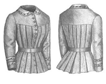 Truly Victorian 1880's Ladies Yoked Blouse Pattern TV461