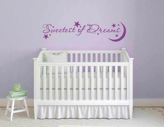 Quote Sweet Dreams Wall Decal Sticker  DB243